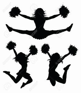 Cheerleading Silhouette Clip Art Many Interesting Cliparts