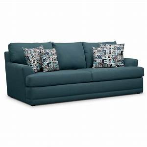 Calamar teal upholstery queen memory foam sleeper sofa for Sectional sofa sleepers queen