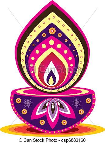 Indian Oil Lamp Clipart (61
