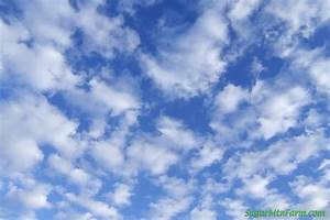 Light Blue Sky With Clouds