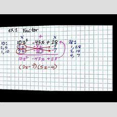 Factoring Trinomials Ax2+bx+c Youtube