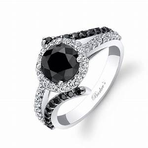 Black diamond engagement rings for women wedding for Womens black diamond wedding rings