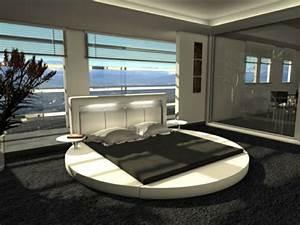 Teppichboden Für Badezimmer : luxus schlafzimmer mit wasserbett rund und teppichboden schwarz freshouse ~ Markanthonyermac.com Haus und Dekorationen