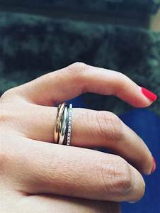cartier trinity ring as engagement ring weddingbee With cartier engagement ring and wedding band