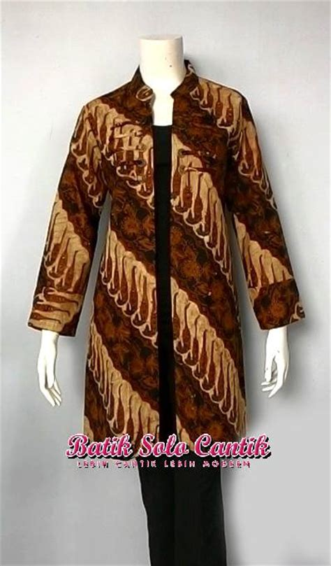 long cardigan model batik solo baju kerja batik