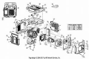 Homelite Hg1800 Series Electric Generator Parts Diagram