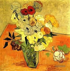 Blumen Gemälde In öl : japanischer vase mit rosen und anemonen vincent van gogh ~ A.2002-acura-tl-radio.info Haus und Dekorationen