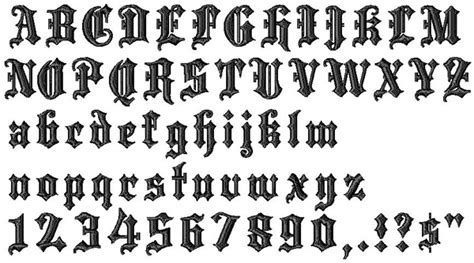 typography what s the clean blackletter font used in blackletter embroidery alphabet from designs 13709