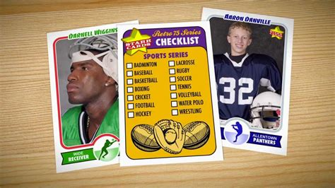 Make Your Own Football Card (starr Cards Retro 75) Youtube