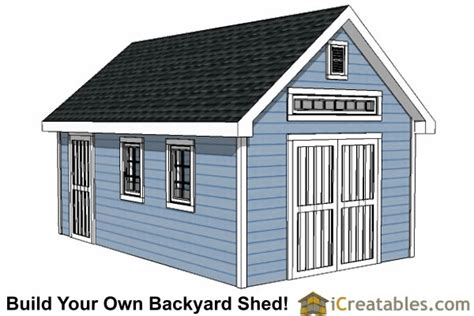12x20 Storage Shed Plans 12x20 traditional backyard shed plans