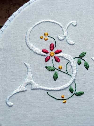 embroidery monogram  pinterest cross patterns hand