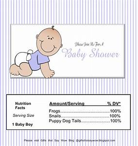 gifts that say wow free printable baby boy candy wrapper With baby shower chocolate wrappers template