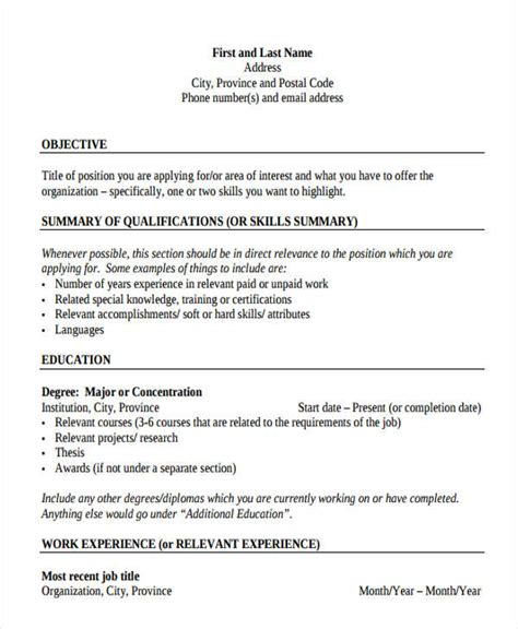 Free Printable Resume Templates by Gallery Of Free Resume Templates To Print