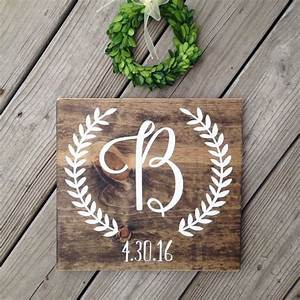 initial sign personalized wedding gift engagement gift With wedding gift name sign