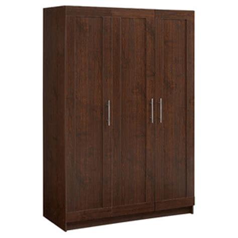 Wardrobe 24 Inches Wide by 3 Door Walnut 72 Inch Wardrobe Closet 13779001 Ofs300