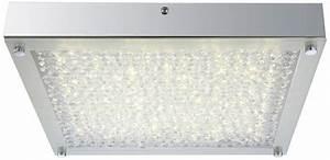Esszimmer Lampe Led : 17 watt led decken leuchte esszimmer glas kristall lampe quadratisch eek a globo 49210 ~ Markanthonyermac.com Haus und Dekorationen