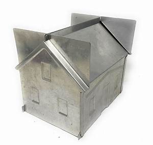 Vintage 1950 U0026 39 S Alumode Party Cake Aluminum House Mold With