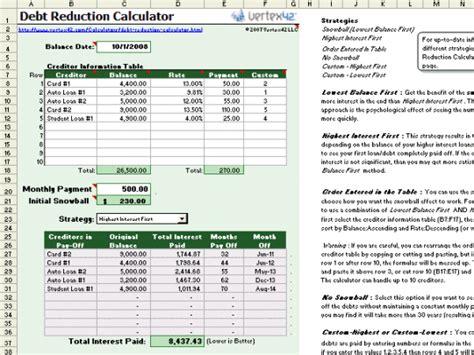 debt elimination spreadsheet excel spreadsheets group