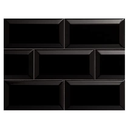nori ceramic collection subway tile black gloss 3 quot x 6