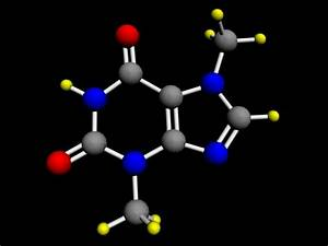 3d molecule theobromine