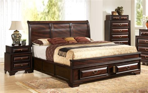 storage bedroom furniture wood high end platform bed with storage new 13400