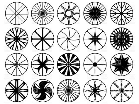 Black-and-white Silhouettes Vector Image