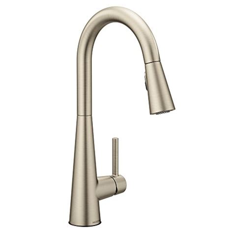 moen brushed nickel pull  faucet pull  brushed nickel moen faucet