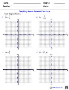 Graphing Simple Rational Functions Worksheet
