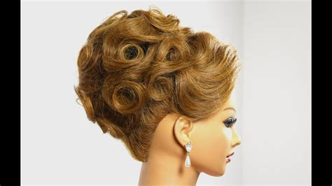bridal updo wedding hairstyle  medium hair tutorial