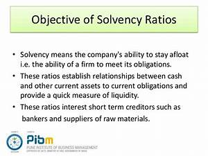 Solvency ratio analysis