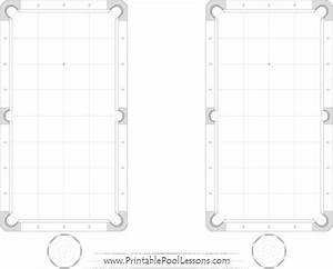 Double Printable Pool Table Template Pdf Black  U0026 White