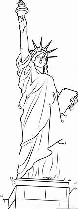 Liberty Statue Printable Dots Connect United States Coloring America Printables Sheets Flag Mesmerizing Dot Freedom Patriotic Determine Symbols Spots Experience sketch template