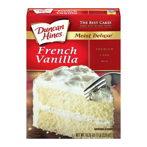 vanilla cake mix duncan hines moist delux french vanilla cake mix 468g case buy 12 packs american food store