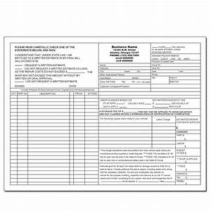 Auto repair invoice hardhostinfo for Florida auto repair invoice