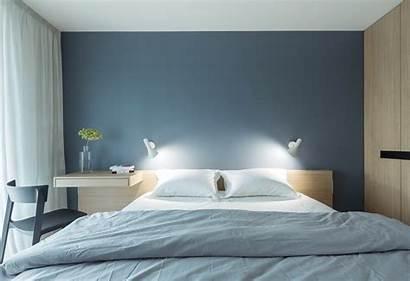 Minimalist Bedroom Shaped Floor Brick Double Wooden