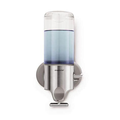 simplehuman Single Wall-Mount Shampoo and Soap Dispenser