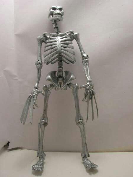 wolverine adamantium skeleton figure action marvel bones figures custom vs figurerealm statue lightsaber wolverines darth maul debates own comic customs