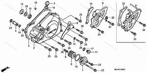 Honda Motorcycle 2004 Oem Parts Diagram For Left Crankcase Cover