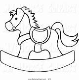 Horse Rocking Clipart Clip Outlined Coloring Children Vector Childrens Rogue Pams Pamela Clipground Line sketch template