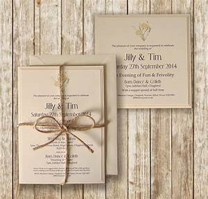 knots and kisses wedding stationery rustic lemon cream With rustic winter wedding invitations uk