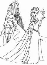 Elsa Coloring Frozen Castle Pages Ice Queen Anna Printable Amazing Colouring Disney Coloringsky Princess Elsas Cartoon Sky Adult Sven Fun sketch template