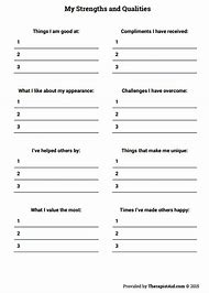 Best Self Esteem Worksheets Ideas And Images On Bing Find What
