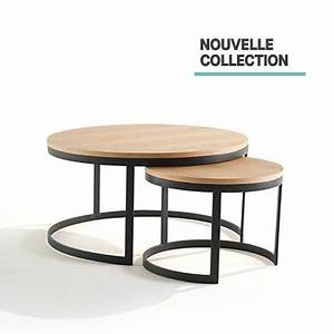Table De Salon Gigogne Table Basse Industrielle Gigogne