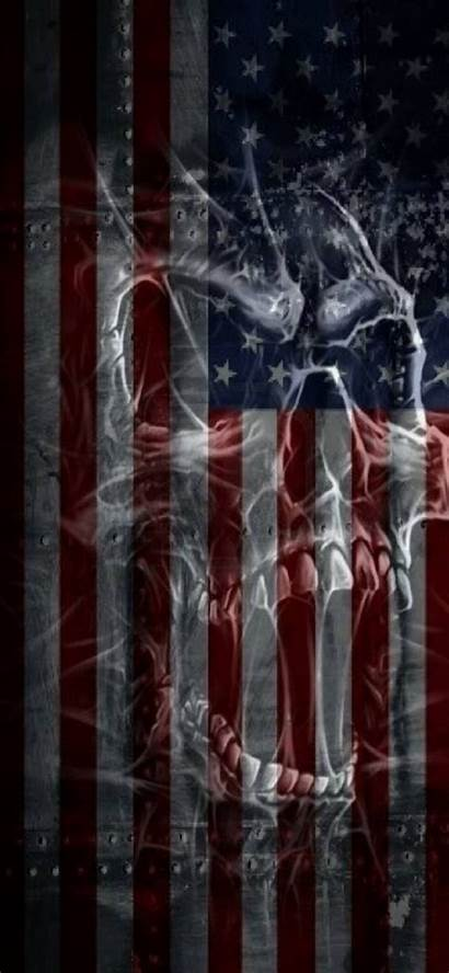 Wallpapers Flag Skull Zedge Usa Backgrounds Cool