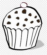 Muffin Colouring Coloring Clipart Chocolate Chip Chips Cartoon Pinclipart Transparent Clipartkey Netclipart sketch template