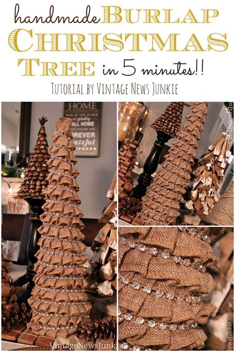 home made decor how to make a burlap tree in 5 minutes easy