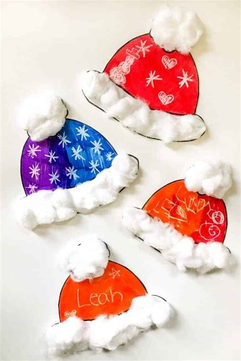 simple winter hat craft  toddlers   printable
