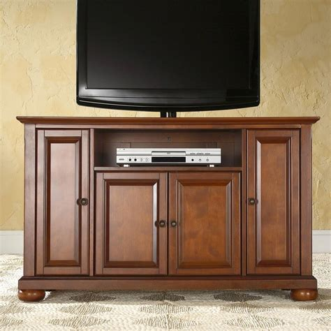 furniture tv stands shop crosley furniture alexandria classic cherry tv cabinet at lowes com