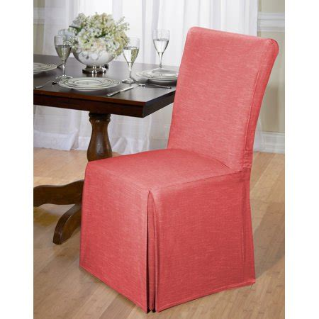 chambray dining chair slipcover parson chair cover red