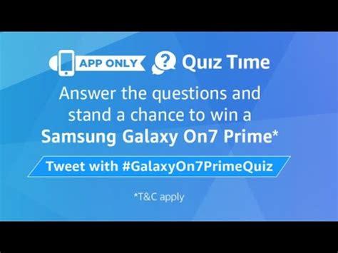 samsung galaxy on7 prime quiz answers samsung galaxy 7 quiz answers youtube